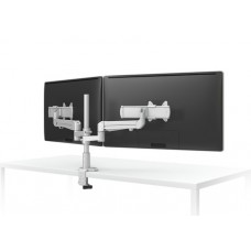 "Evolve Dual Monitor Arm with slider plates  (24"" Deep Desks)"