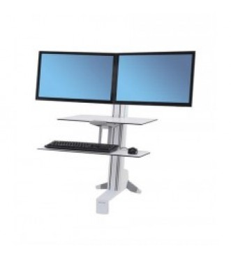 Workfit-S, Dual Monitor with Worksurface (White)