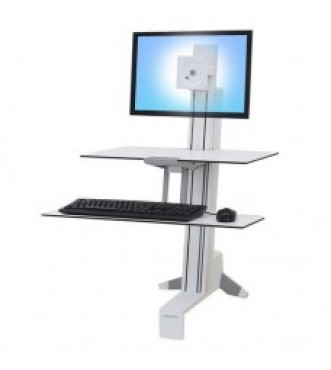 Workfit-S, Single Monitor with Worksurface (White)