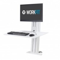 WorkFit-SR, Single Monitor, Sit-Stand Desktop Workstation (White)