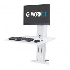 WorkFit-SR, Single Monitor, Sit-Stand Desktop Workstation (White)