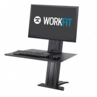 WorkFit-SR, Single Monitor, Sit-Stand Desktop Workstation (Black)