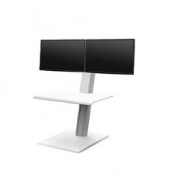 Humanscale QuickStand Eco - Dual Monitor (White)