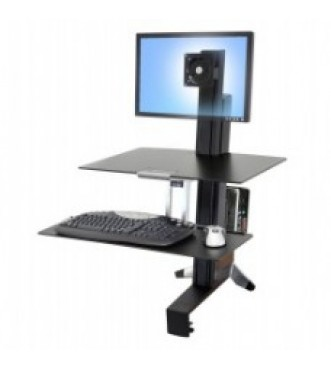 Workfit-S, Single Monitor with Worksurface (Black)