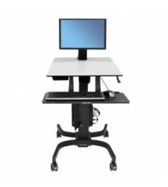 WorkFit-C, Single HD Sit-Stand Workstation for 16–28 lbs monitor (Office)