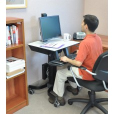 WorkFit-C, Single LD Sit-Stand Workstation (Office)