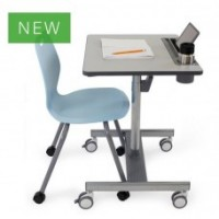 LearnFit SE2 Sit-Stand Desk (medium grey)