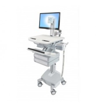 StyleView® Cart with LCD Pivot, LiFe Powered, 2 Drawers (1x2)