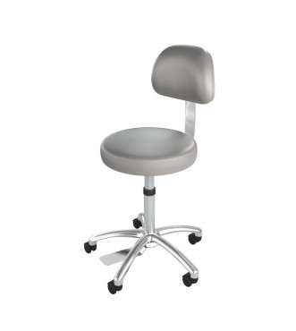 Ultimate Medical Stool with Back Chrome Finish