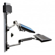 LX Wall Mount System-Keyboard & Monitor Mount with Small CPU Holder